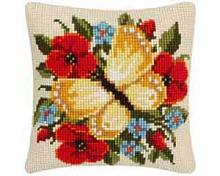 "Подушка ""Жёлтая бабочка"" набор для вышивания"