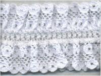 Кружево на резинке,  цвет белый 40 мм.