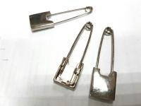 Булавка декоративная металлическая  серебро 5см