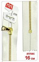 Молнии RIRI металл. GO, 4 мм, 16 см, на атласной тесьме, неразъе