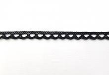 Кружево хлопковое 7 мм, черное (цена за 1 см)
