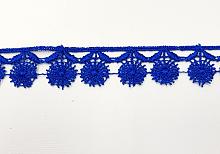 Кружево 18мм узкое одуванчик синий,