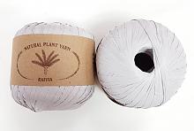 Пряжа Рафия (Raffia), цвет 008 серебристый