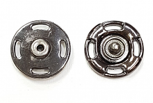 Кнопка пришивная пластик 21 мм., графит