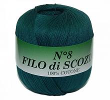 Пряжа Filo Di Scozia №8 (Фило Ди Скозиа №8) - 113 морская волна