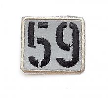 Термоаппликация 59 в бежевой рамочке, 3 х 3.5 см