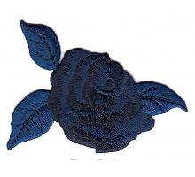 Аппликация Роза синяя