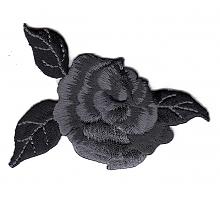 Аппликация Роза черная