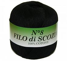Filo Di Scozia №8 (Фило Ди Скозиа №8), цвет 72 черный