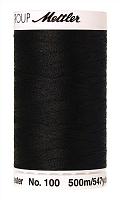 Нить универсальная SERALON 100, 500 м, цвет 4000 черный
