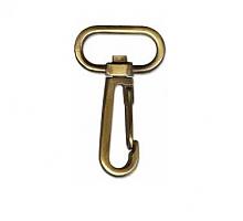 Карабин №355 металлический для сумок бронза
