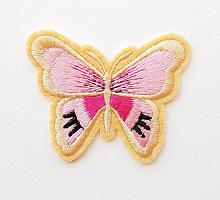 Термоаппликация бабочка бежевая, 63 х 53 мм