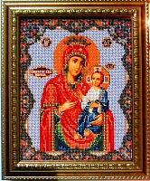 """В-162 Набор для вышивания бисером """"Иверская Богородица"""" 20х24 см"""