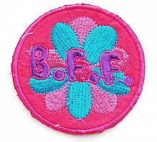 """Термоаппликация """"B.F.F, d=8 см"""