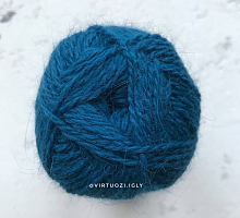 Пряжа Рэббит ангора (Rabbit Angora), цвет 14 морская волна