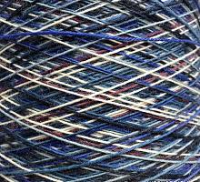 Регия (Regia) (75% меринос, 25% акрил 420м/100г) 13 сине-бело-голубой