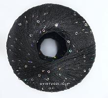 Пряжа Пайетки ЛГ (PAILLETTES LG), цвет 8606 черный