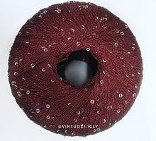 Пряжа Пайетки ЛГ (PAILLETTES LG), цвет 8602 тёмная вишня