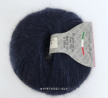 Пряжа Сетал (Setal), цвет 409 сине-черный