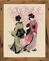 """Набор для вышивания 1508 """"Вишни в цвету"""" 24x30 см"""