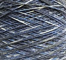 Регия (Regia) (75% меринос, 25% акрил 420м/100г) 04 бело-сине-голубой