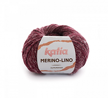Пряжа Merino-Lino, цвет 510 бургунди