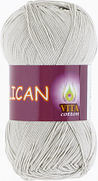 Пряжа Vita cotton Pelican  цвет 3965 светло серый