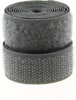 Лента контактная (липучка) серая, 25 мм