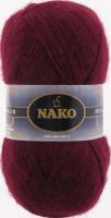 Пряжа Naco Mohair Delicate цвет 6110 бордовый