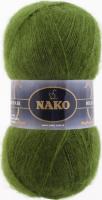 Пряжа Naco Mohair Delicate цвет 6126 темный хаки