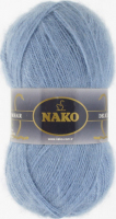 Пряжа Naco Mohair Delicate цвет 6122 серо голубой