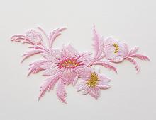 Букет цветов розовый, 7.5 х 13 см