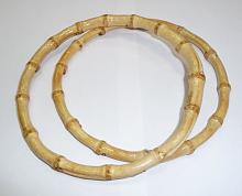 Ручки для сумок круглые бамбук, d 155 мм
