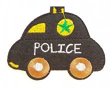 """Термоаппликация машинка """"POLICE"""" черная, 7.8 х 6 см"""