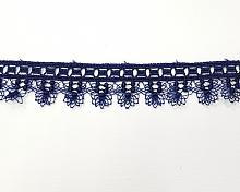 Кружево т.синее, 25 мм