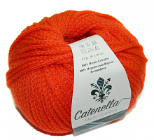 Пряжа Катенелла (Catenella) 438 морковный