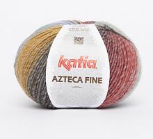 Пряжа Azteca Fine  (Ацтека Файн) 218 голубо-охра-серо-красный