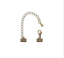 Концевик с замком античная медь