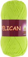 Пряжа Vita cotton Pelican  цвет 3996 салатовый