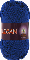 Пряжа Vita cotton Pelican  цвет 3983 ярко синий