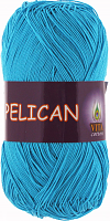 Пряжа Vita cotton Pelican  цвет 3981 голубая бирюза