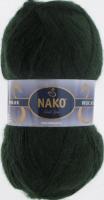 Пряжа Naco Mohair Delicate цвет 6145 темно-зеленый