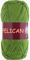 Пряжа Vita cotton Pelican  цвет 3995 зеленая трава