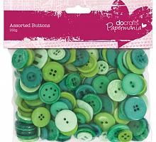Набор пуговиц ассорти - Зеленый