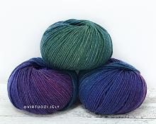 Lana Gatto Super Soft (Суперсофт) 8507 -  микс фиолет-синий-зеленый
