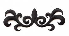 Термоаппликация узор черный, 16 х 6 см