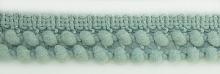 Тесьма двухрядная с мелкими помпонами 16 голубовато-серый