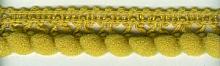 Тесьма декоративная с мелкими помпонами 12-охра