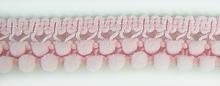 Тесьма двухрядная с мелкими помпонами 48 нежно-розовый