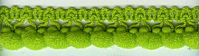 Тесьма декоративная с мелкими помпонами 13-лимонно-зеленый